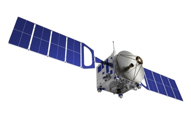 Satellite Over White Background